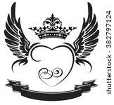 Black Wings  Ribbon  Heart ...