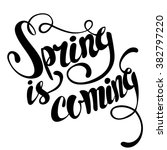 spring is coming lettering.... | Shutterstock .eps vector #382797220