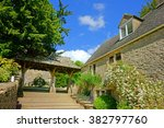 the steps and cottages leading... | Shutterstock . vector #382797760
