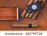 different cigars on the... | Shutterstock . vector #382799728