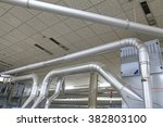 stainless steel pipe in the... | Shutterstock . vector #382803100