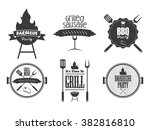 set of vintage barbecue badge... | Shutterstock .eps vector #382816810