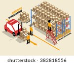 beautiful isometric design of... | Shutterstock .eps vector #382818556