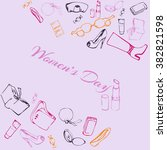 poster women's day    Shutterstock .eps vector #382821598