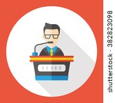 business character flat icon | Shutterstock .eps vector #382823098