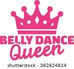 belly dance queen with crown | Shutterstock .eps vector #382824814