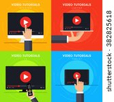 video tutorials icons concepts. ... | Shutterstock .eps vector #382825618