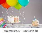 White Birthday Cake With...