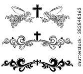 obituary notice   art deco... | Shutterstock .eps vector #382848163