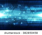 abstract security digital... | Shutterstock .eps vector #382850458
