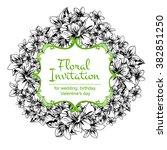 vintage delicate invitation... | Shutterstock .eps vector #382851250