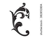 vintage baroque frame scroll... | Shutterstock .eps vector #382852804