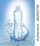 Water Bottle On Water Splash