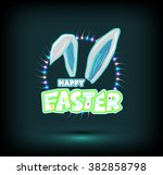 happy easter cards illustration ... | Shutterstock .eps vector #382858798