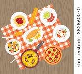 catering service. european food....   Shutterstock .eps vector #382860070