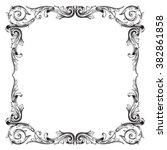 vintage baroque frame scroll... | Shutterstock .eps vector #382861858