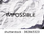 impossible | Shutterstock . vector #382865323
