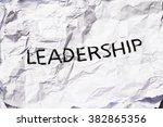 leadership | Shutterstock . vector #382865356