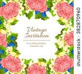 vintage delicate invitation... | Shutterstock .eps vector #382870960