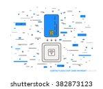 emv chip card square... | Shutterstock .eps vector #382873123