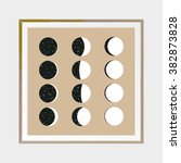 moon phases. abstract poster.... | Shutterstock .eps vector #382873828