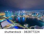 panorama of singapore skyline... | Shutterstock . vector #382877224