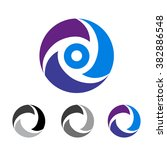 abstract icon based on the...   Shutterstock . vector #382886548