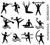 set of sports icons  shooting ... | Shutterstock . vector #382886569