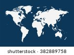 world map vector flat white | Shutterstock .eps vector #382889758