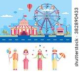 set stock vector illustration... | Shutterstock .eps vector #382890433