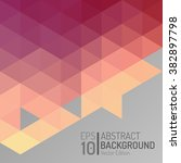 abstract polygon wallpaper... | Shutterstock .eps vector #382897798