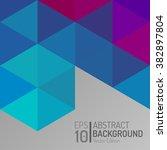 abstract polygon wallpaper... | Shutterstock .eps vector #382897804