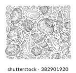 Seashell Pattern Art Backgroun...
