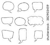 speech bubble vector. black... | Shutterstock .eps vector #382903459