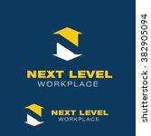 next level logo n  letter logo | Shutterstock .eps vector #382905094