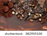 dark hazelnut and almond... | Shutterstock . vector #382905100