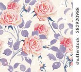 beautiful seamless wallpaper... | Shutterstock .eps vector #382920988