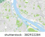 vector city map of riga  latvia | Shutterstock .eps vector #382922284