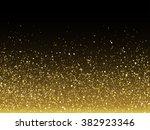 vector gold glitter particles... | Shutterstock .eps vector #382923346