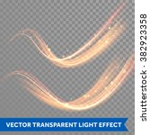 vector magic glowing spark... | Shutterstock .eps vector #382923358