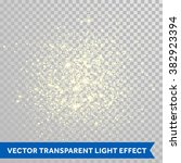 vector shimmering particles of... | Shutterstock .eps vector #382923394