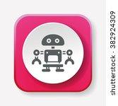 robot icon | Shutterstock .eps vector #382924309