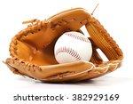 Baseball Equipment On White...