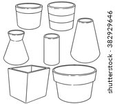 vector set of pots | Shutterstock .eps vector #382929646