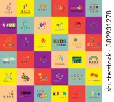 children icons set vector... | Shutterstock .eps vector #382931278