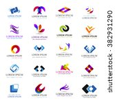 business icons set isolated on... | Shutterstock .eps vector #382931290
