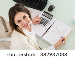 photo of young businesswoman... | Shutterstock . vector #382937038