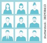 avatar profile picture icon set ... | Shutterstock .eps vector #382938613