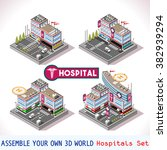 city hospital buildings and... | Shutterstock .eps vector #382939294