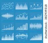 business graphs statistics and... | Shutterstock .eps vector #382939318